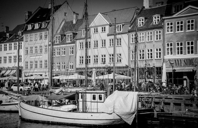Landmark. The Copenhagen`s most famous landmark Nyhavn royalty free stock image
