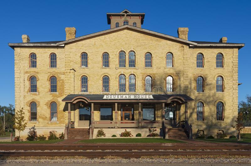 Landmark Dousman House in Prairie du Chien. Prairie Du Chien, Wisconsin/USA –October 20, 2018: Named The Railway House when it opened to the public in the royalty free stock photos