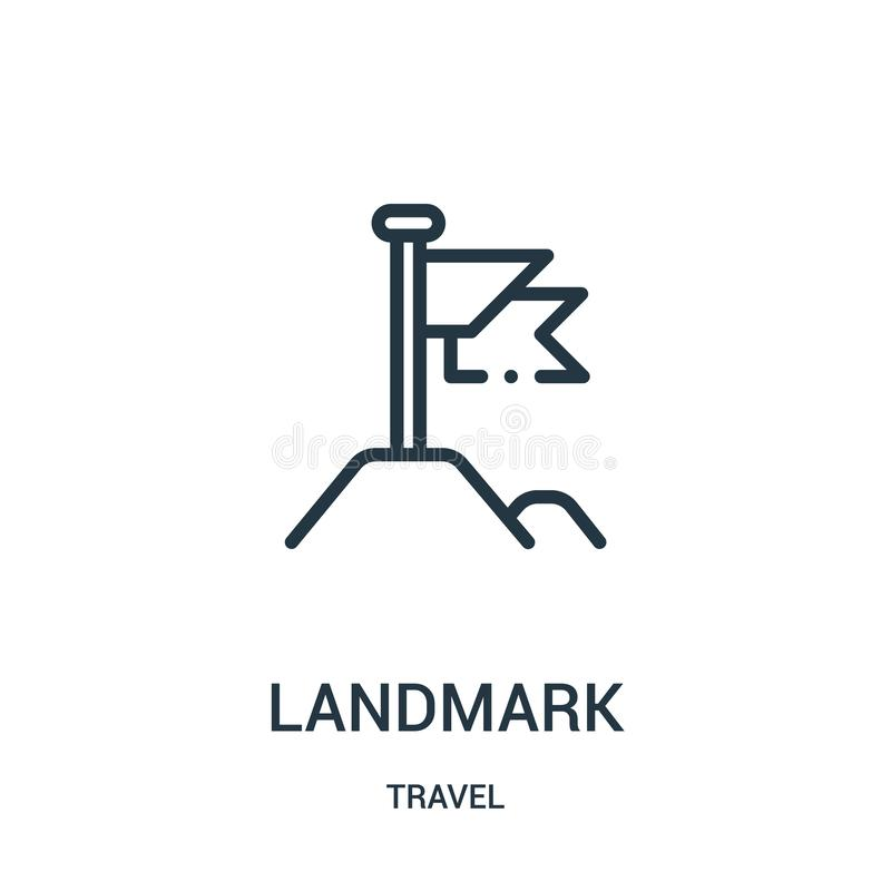 landmark icon vector from travel collection. Thin line landmark outline icon vector illustration. Linear symbol for use on web and stock illustration