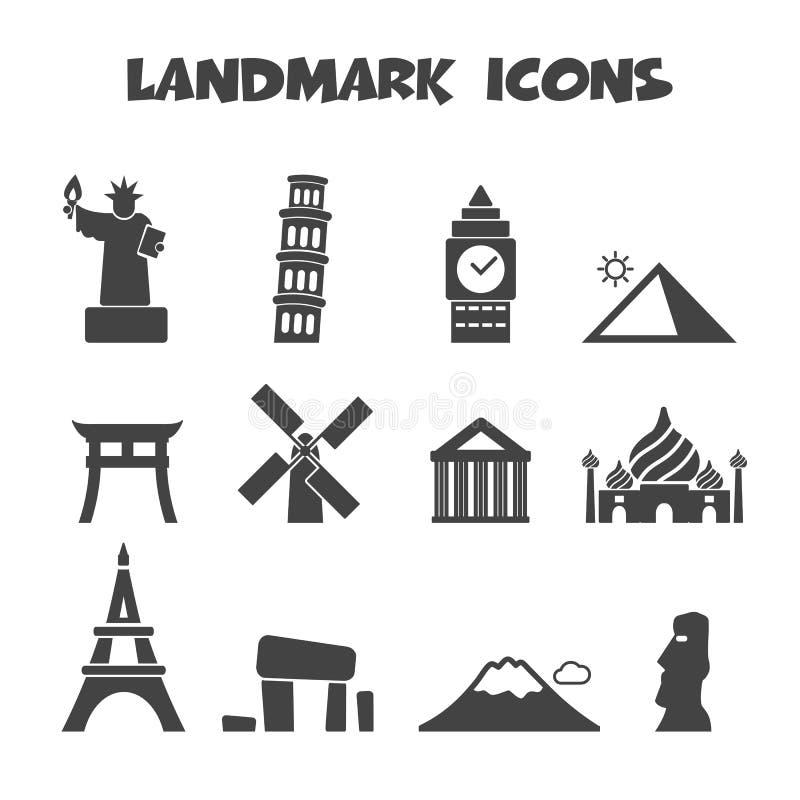Landmark icons stock illustration