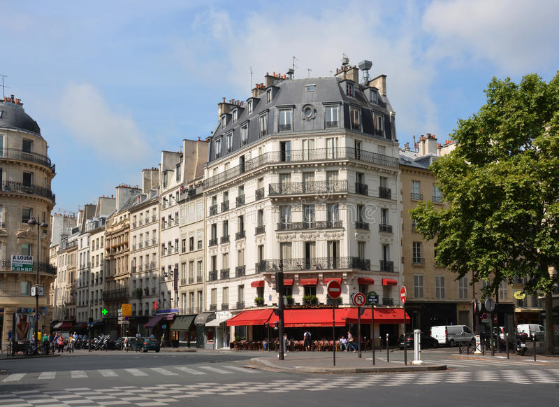 Landmark Le Saint Germain Restaurant, France de Paris. images stock