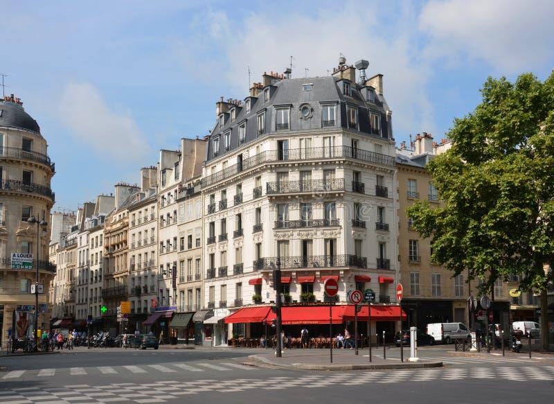 Landmark Le Saint Germain Restaurant, París Francia. imagenes de archivo