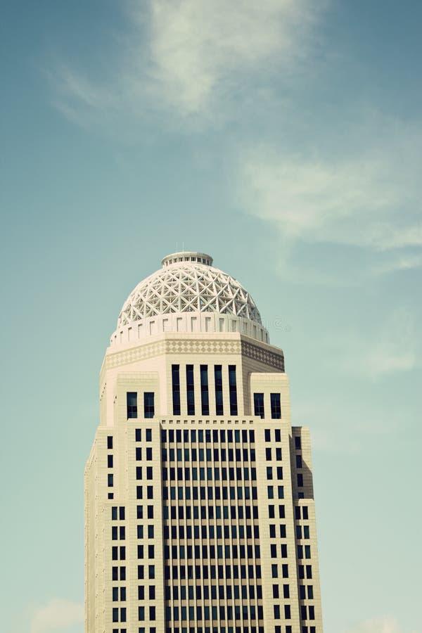 Landmark of Louisville. Kentucky. Skyscraper in downtown stock photography