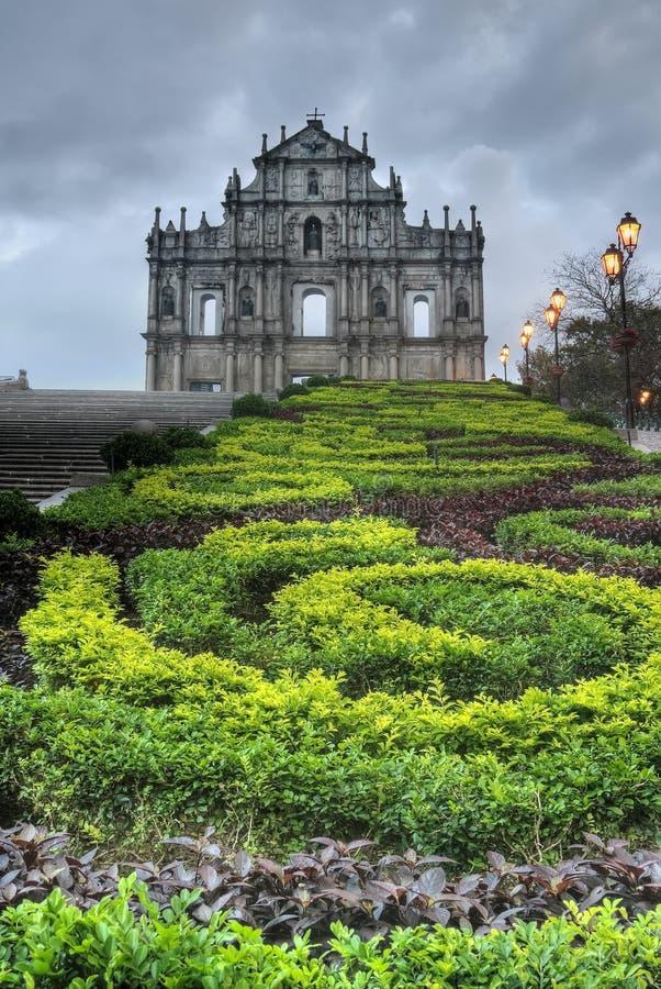landmark macao arkivbild