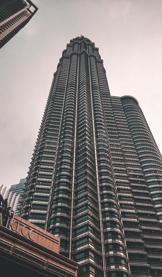 The landmark of Malaysia is KLCC royalty free stock images