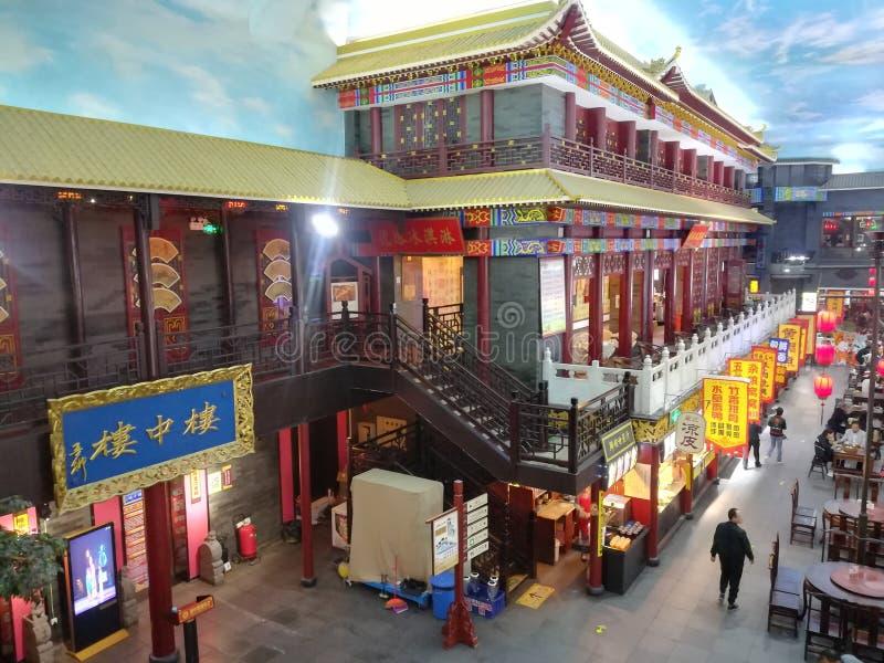 Landmark, Marketplace, City, Chinese Architecture stock photography