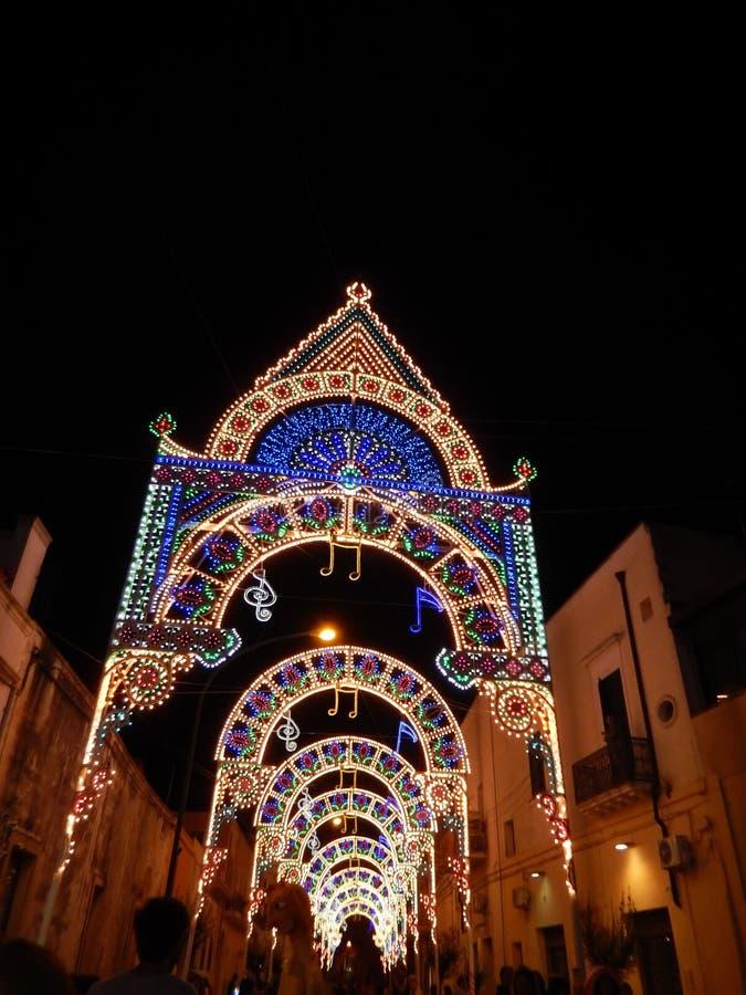 Landmark, Night, Christmas Lights, Light royalty free stock photography