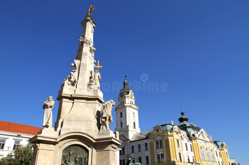 Landmark in Pecs, Hungary. Landmarks in the center of Pecs, Hungary, Europe royalty free stock image