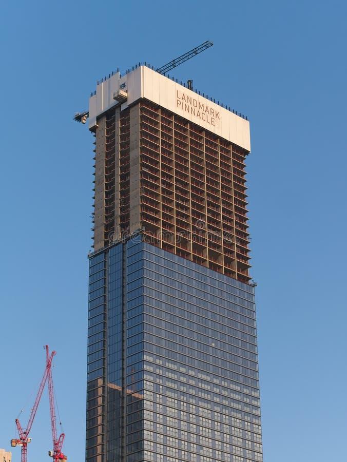 Free Landmark Pinnacle Skyscraper Under Construction, Canary Wharf, London, UK Stock Image - 146763021