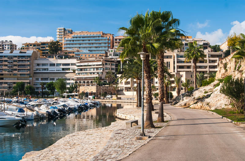 Palma de Majorca street view royalty free stock images