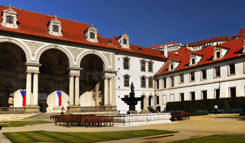 Landmark Wallenstein Palace Prague stock photo