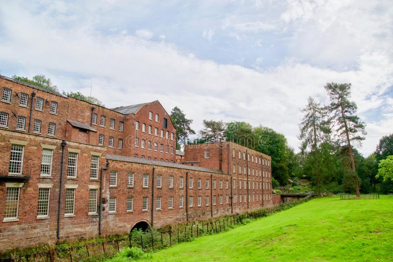 Landmark of a workplace. Quarry bank mill wilmslow Cheshire England united kingdom stock images