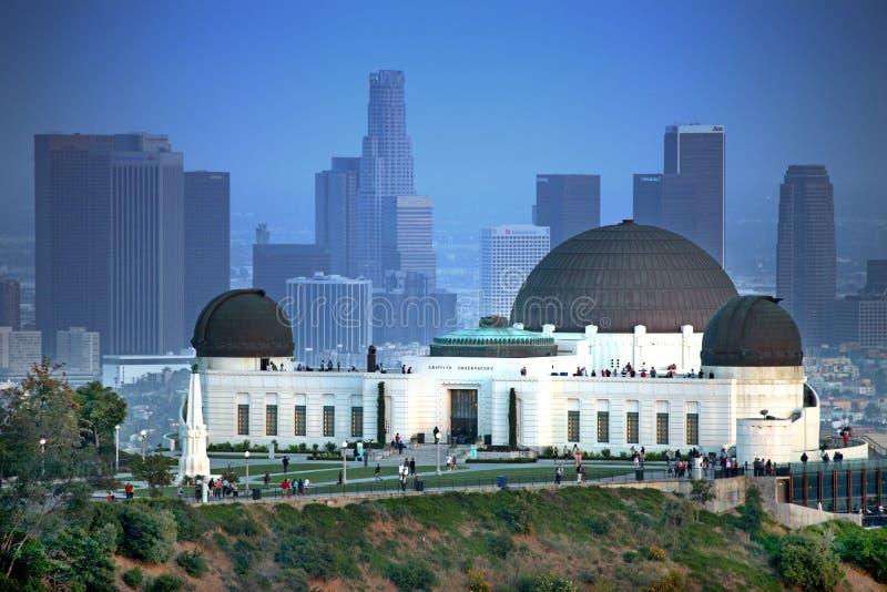 LandmarkGriffith observatorium i Los Angeles arkivbilder