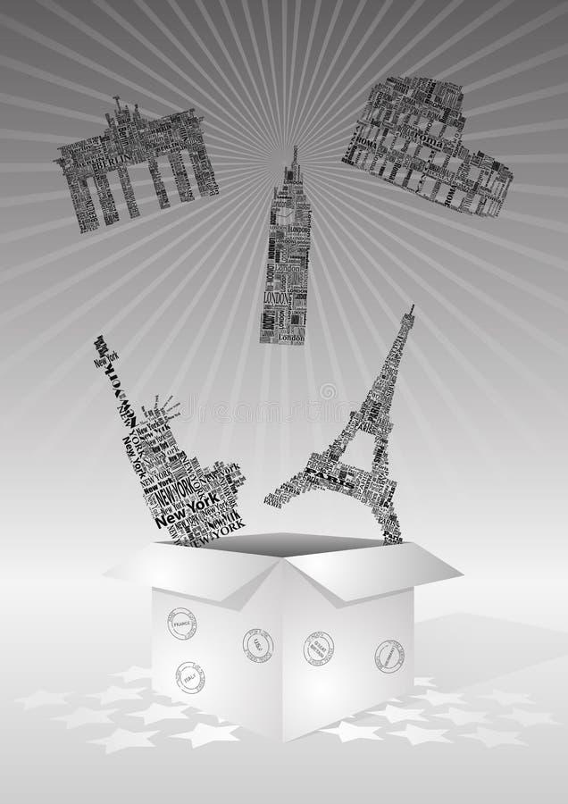 Download Landmarks box stock vector. Illustration of pack, gift - 23190034