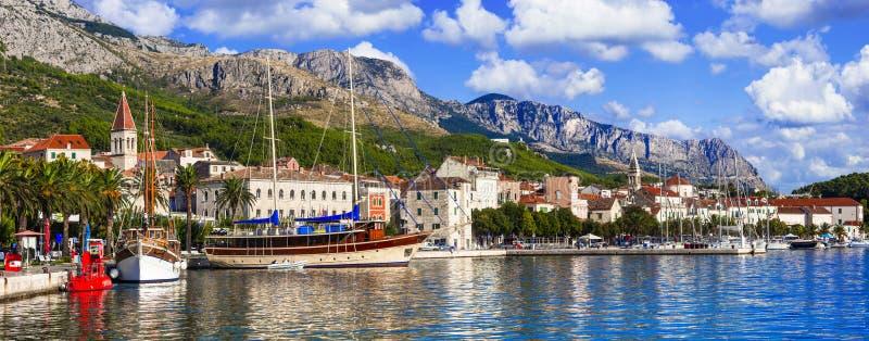 Landmarks of Croatia -Makarska town royalty free stock image