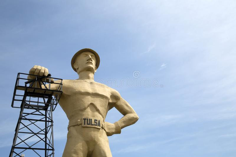 Gold driller ,landmarks of Tulsa Oklahoma USA. Landmarks gold driller in Tulsa Oklahoma state USA stock photo