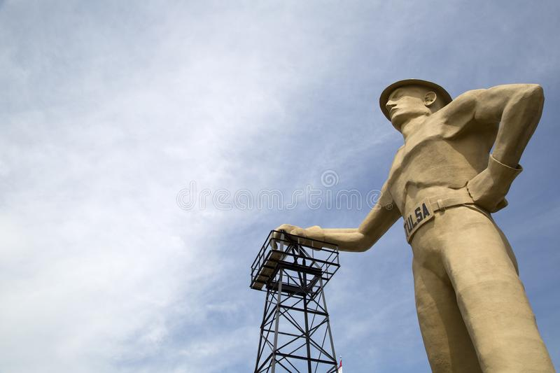 Gold driller , landmarks of Tulsa Oklahoma USA. Landmarks gold driller in Tulsa Oklahoma state USA royalty free stock image
