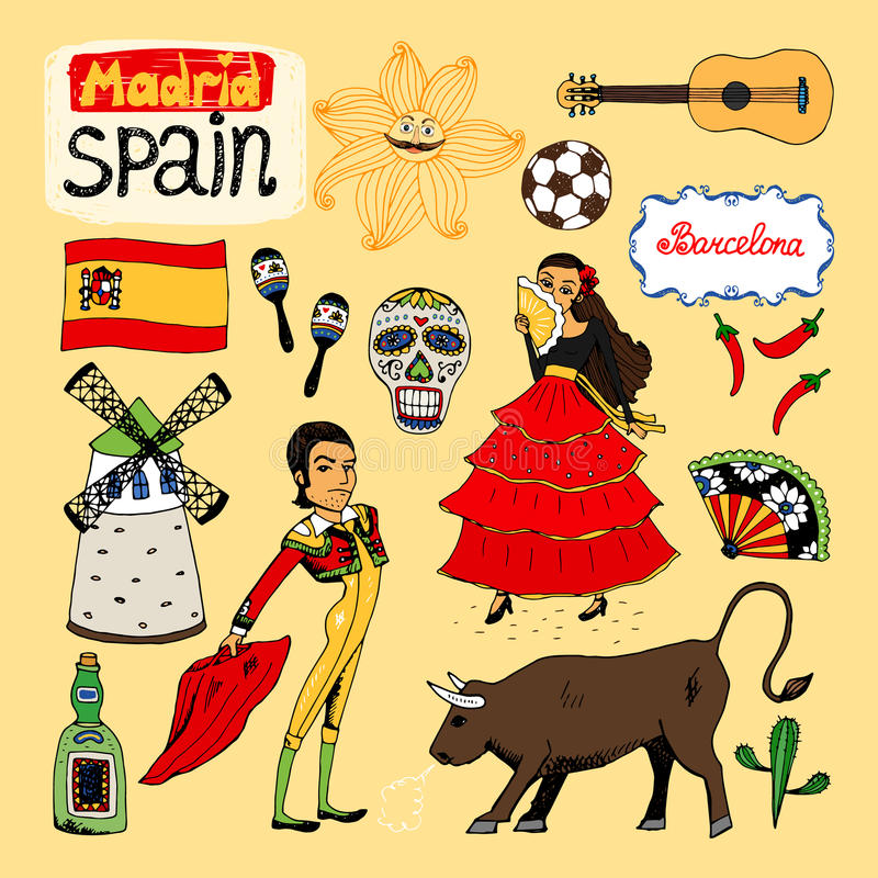 Download Landmarks And Icons Of Spain Stock Vector - Image: 40422543