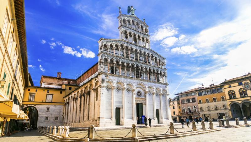 Landmarks of Italy ,San Michele Cathedral,Lucca,tuscany,Italy stock photo