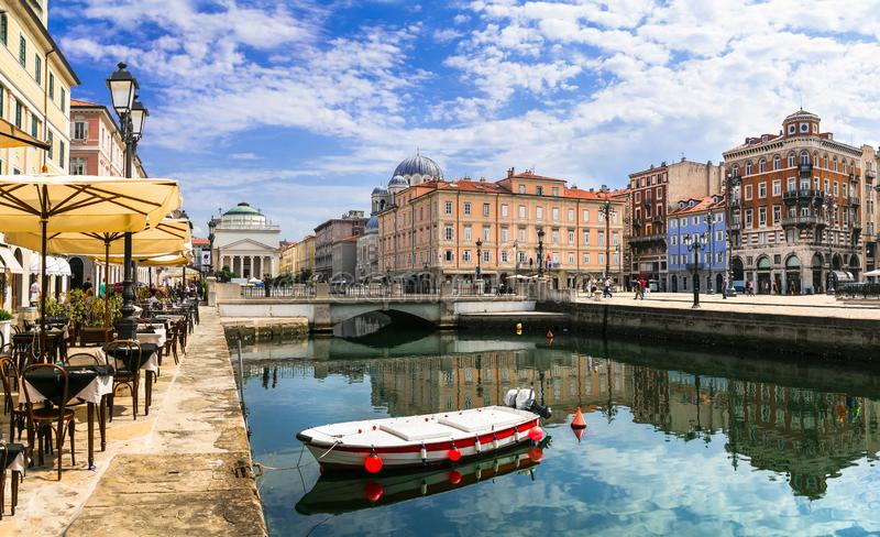 Landmarks  of northern Italy - elegant Trieste stock photo
