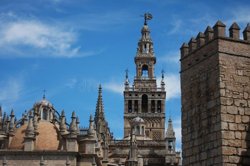 landmarks seville royaltyfria foton