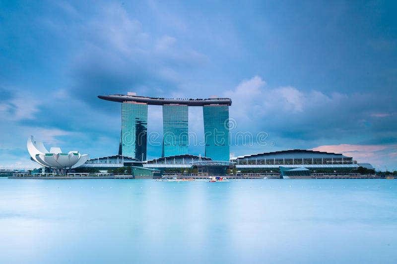 Landmarks of Singapore: Marina Bay Sands. This is a photo of the Singapore landmarks, the Marina Bay Sands royalty free stock photos