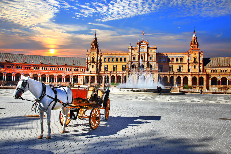 Landmarks of Spain - Seville, Andalusia royalty free stock photo