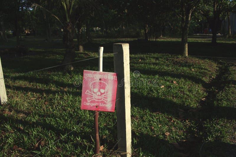 Landmijnteken stock afbeeldingen
