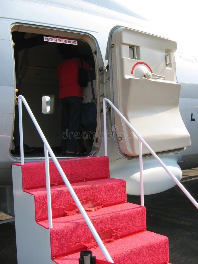 landning för flygplanlogiport royaltyfri foto