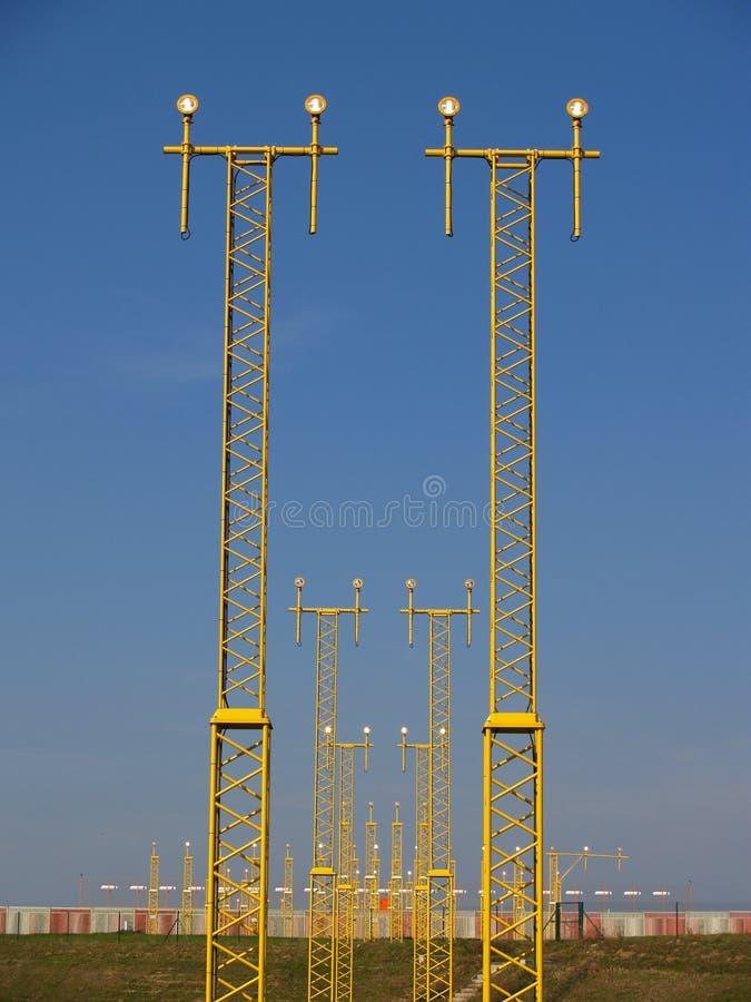 landninglampor royaltyfri fotografi