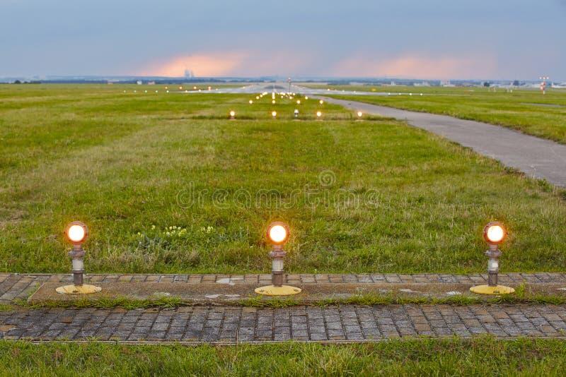 Landningljus royaltyfria bilder