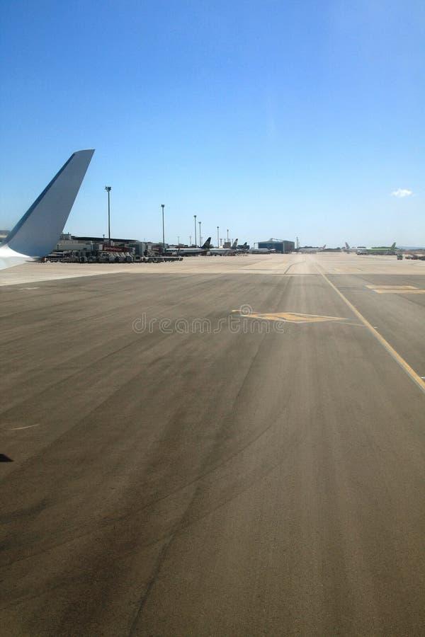 landningsbana royaltyfri fotografi