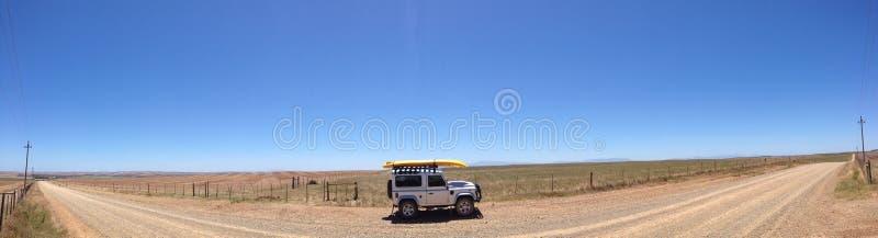 Landrover on deserted road