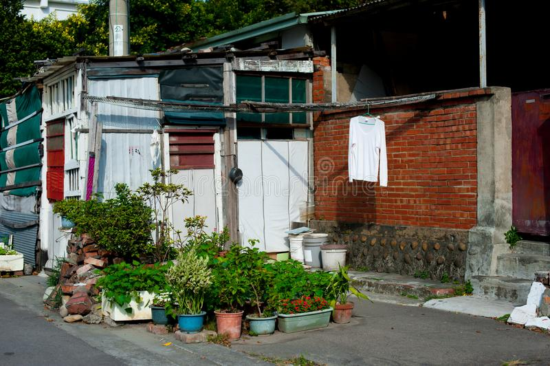 Landry στην οδό στη Ταϊπέι, Ταϊβάν Ταϊβάν ` s εάν είναι τροπικός και δεν χιονίζει πολύ κατά τη διάρκεια του χειμώνα Στο θερινό χρ στοκ εικόνες