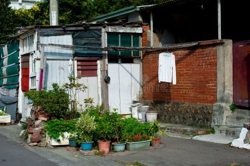 Landry na ulicie w Taipei, Tajwan Tajwański ` s skop jest tropikalny i dużo nie śnieżny podczas zimy W lato czasie, internuje zdjęcie stock