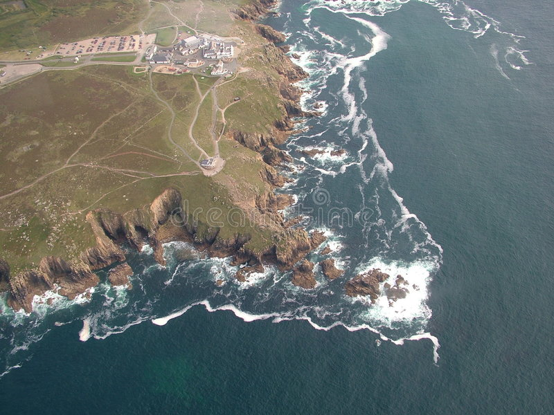 Lands End from the air royalty free stock photos