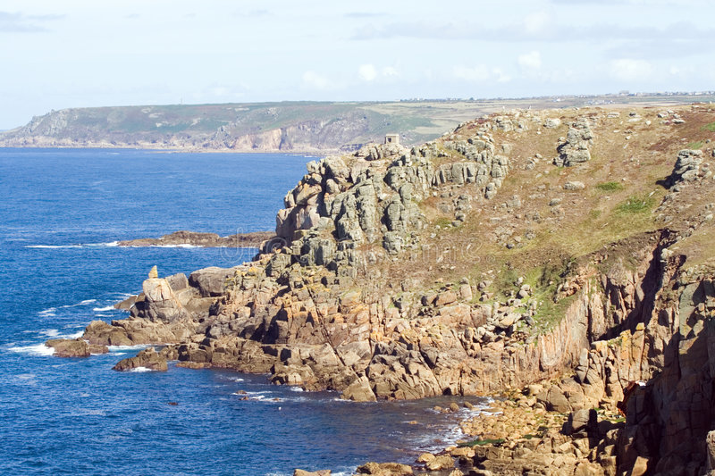 Download Lands End, Cornwall stock photo. Image of crag, relax - 1154696