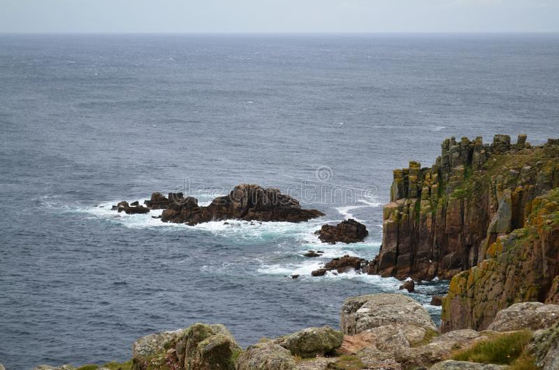 Lands End. Sea and Rocks in Lands End, Southest part of Bratain Date taken: 15/06/2012 royalty free stock image