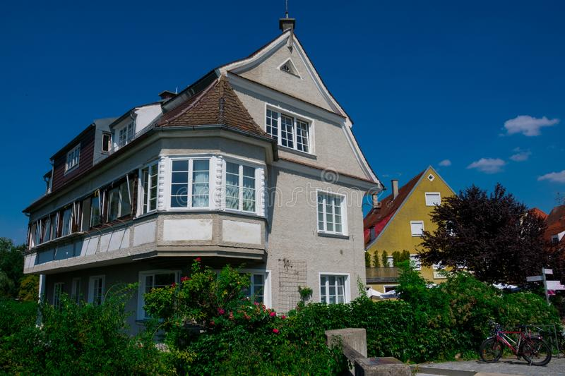 Typical german house, historic old town stock images