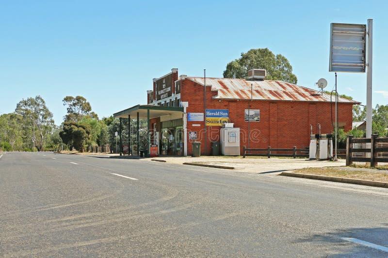 LANDSBOROUGH, VICTORIA, AUSTRÁLIA - 1º de março de 2016: A loja geral de Landsborough foi estabelecida em 1924 como W B Hodgetts  fotos de stock