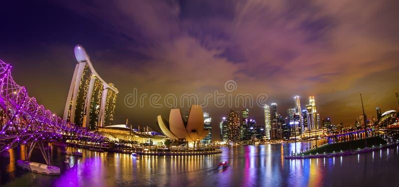 Landscaoe van de zaken van Singapore royalty-vrije stock afbeelding