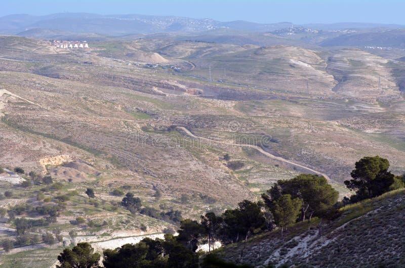 Landscap av den Judaean öknen royaltyfria foton