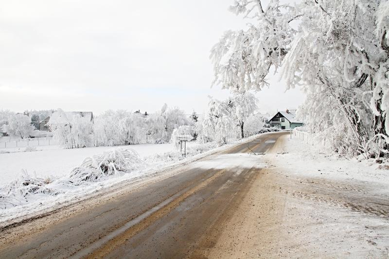 Landscap di inverno fotografie stock