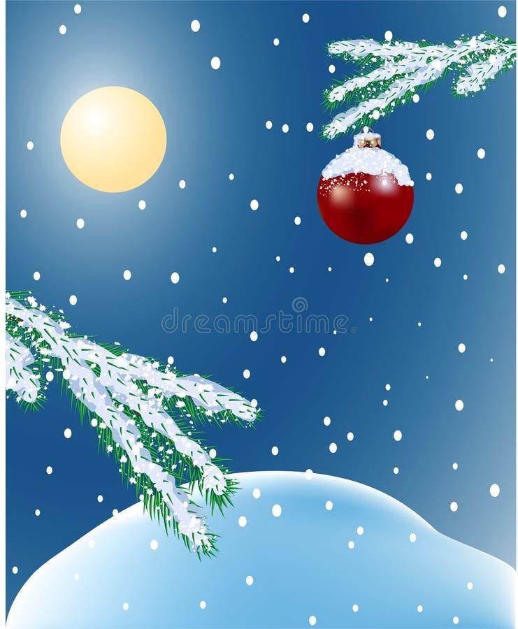 landscape лунная зима бесплатная иллюстрация