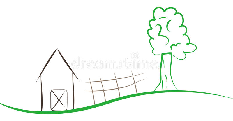 Download Landscape stock illustration. Image of graphic, abstract - 14987050