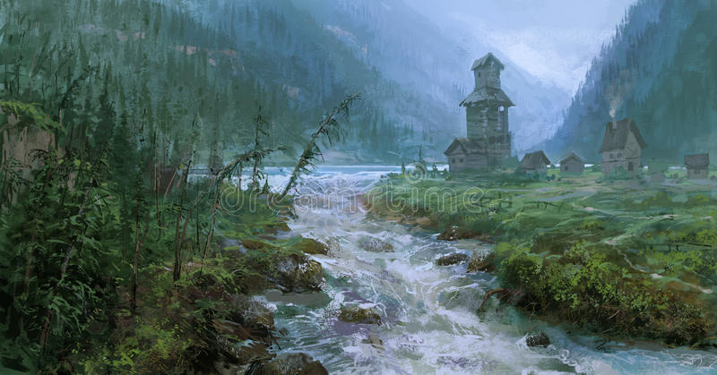 Download Landscape stock illustration. Image of rock, mountain - 25812513