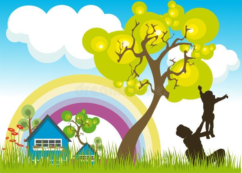 Download Landscape stock vector. Image of bike, garden, campaign - 7047362