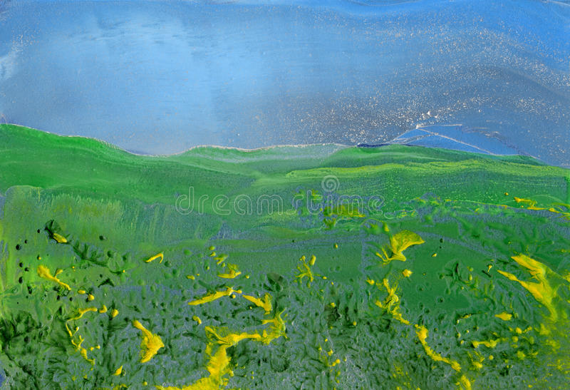 Landscape, abstract painting royalty free stock images