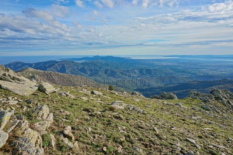 Landscape Albera mountain Spain Pyrenees Catalonia royalty free stock photos