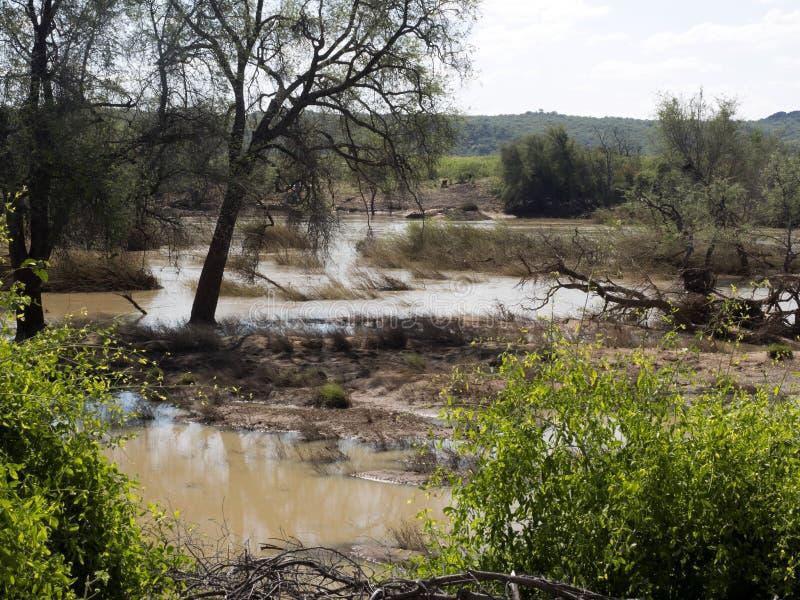 Landscape along the Kunene River, North Namibia. The Landscape along the Kunene River, North Namibia stock images